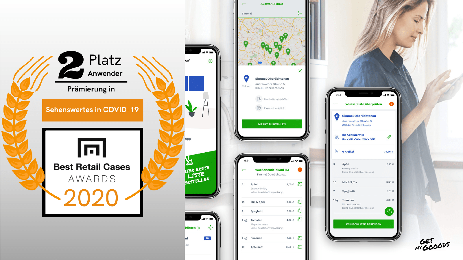 Lösung für mobile Einkäufe und Abholung vor Ort im Geschäft (mit GetMyGooods)