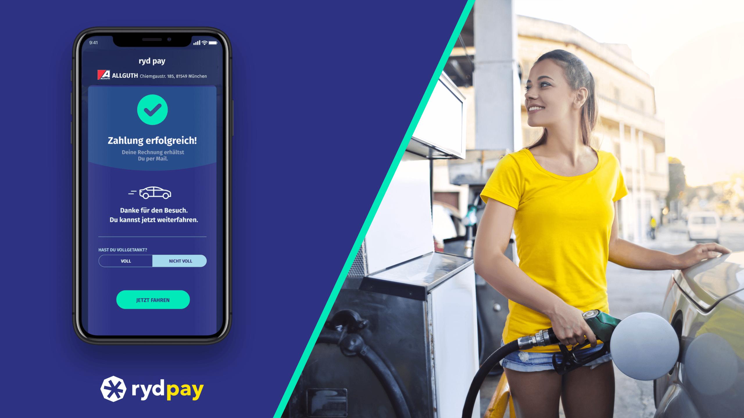 Deutsche Tankstellen: Markenübergreifend und kontaktlos per App bezahlen (mit ryd pay)